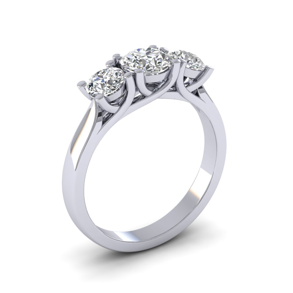 Engagement Rings 3 Stone Alba Rose Diamonds