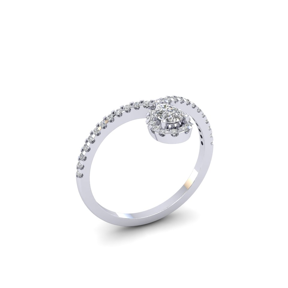 teardrop combination simplistic the diamond band rings curved perfection dainty of pin and is