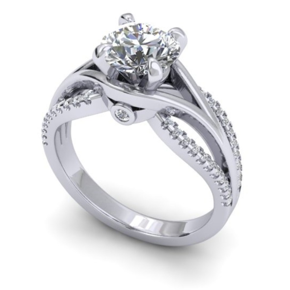 Engagement Ring 1.65ct 9kt White Gold 113933